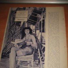 Coleccionismo de Revistas y Periódicos: ACTRIZ KATHLEEN BURKE 2 HOJAS DE REVISTA BLANCO Y NEGRO 1933. Lote 30209898