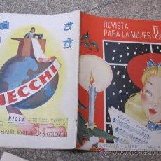Coleccionismo de Revistas y Periódicos: REVISTA PARA LA MUJER - ENERO 1942 Nº 48- FALANGE - GUERRA CIVIL - CORREO 3.3€. Lote 30276651
