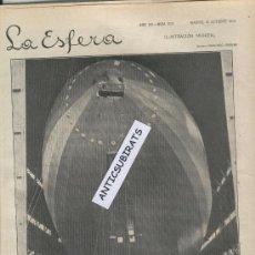Coleccionismo de Revistas y Periódicos: REVISTA.AÑO 1929.ZARAGOZA INDUSTRIAL.S.A.CONTRUCCIONES METALICAS.AVIACION.R.101.DIRIGIBLE.ZEPPELIN.. Lote 30277245