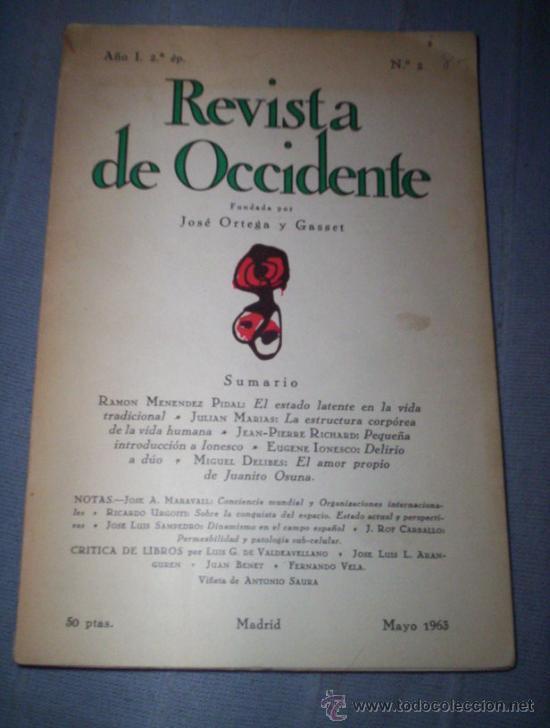 REVISTA DE OCCIDENTE Nº 2- 248 - 211 Y 146Y7 (Coleccionismo - Revistas y Periódicos Modernos (a partir de 1.940) - Otros)