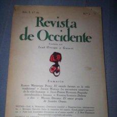 Coleccionismo de Revistas y Periódicos: REVISTA DE OCCIDENTE Nº 2- 248 - 211 Y 146Y7. Lote 30281134