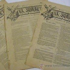 Coleccionismo de Revistas y Periódicos: EL SORBETE. PERIÓDICO DE VERANO. Nº 1, 2, 3, 4, 5, 6, 7 Y 8. CADIZ 1884. Lote 30330036