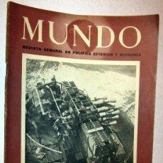 Coleccionismo de Revistas y Periódicos: 1943 REVISTA EL MUNDO - SEGUNDA GUERRA MUNDIAL. Lote 30304006