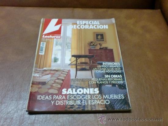 Rev.LECTURASNº 4 ESPECIAL DECORACION.- SALONES IDEAS PARA ESCOGER LOS MUEBLES.-INTERIORES segunda mano