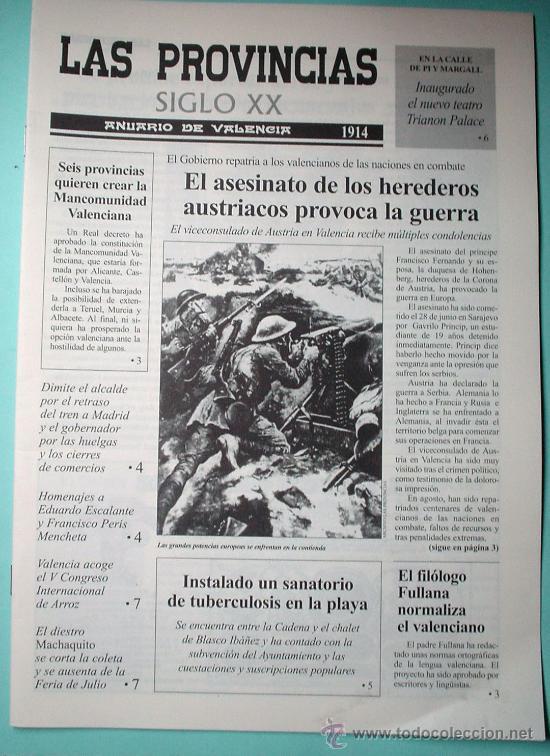 PERIÓDICO. LAS PROVINCIAS SIGLO XX. ANUARIO DE VALENCIA. 1914-1915. DIARIO. (Coleccionismo - Revistas y Periódicos Modernos (a partir de 1.940) - Otros)