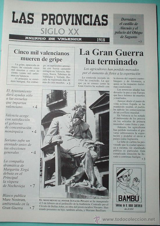 LAS PROVINCIAS SIGLO XX. ANUARIO DE VALENCIA. 1918-1919 (Coleccionismo - Revistas y Periódicos Modernos (a partir de 1.940) - Otros)