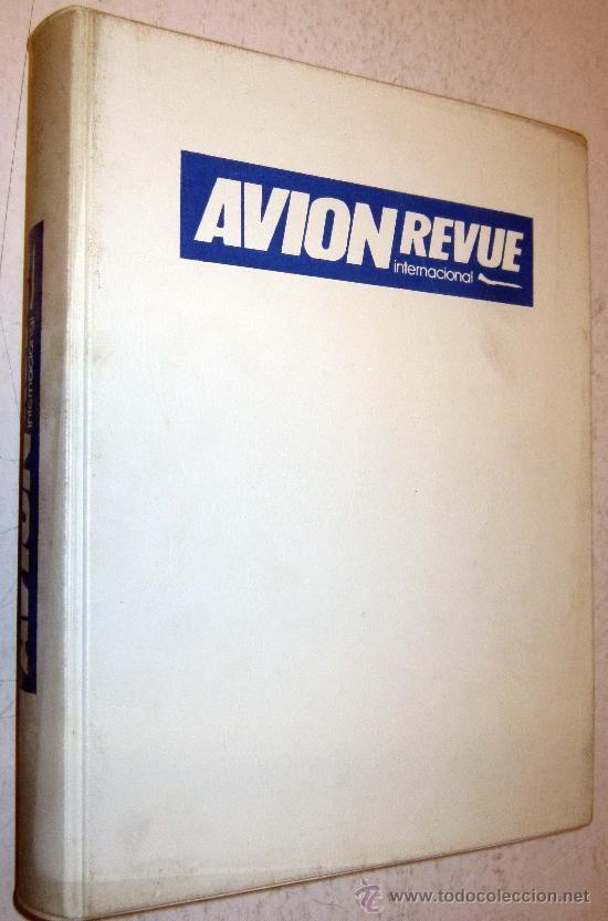 LOTE DE REVISTAS AVION REVUE - AÑO COMPLETO NUMEROS 60 AL 71 ENCUADERNADO (Coleccionismo - Revistas y Periódicos Modernos (a partir de 1.940) - Otros)