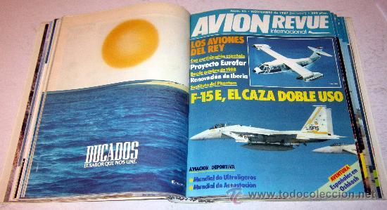 Coleccionismo de Revistas y Periódicos: LOTE DE REVISTAS AVION REVUE - AÑO COMPLETO NUMEROS 60 AL 71 ENCUADERNADO - Foto 2 - 30378073