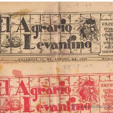 Coleccionismo de Revistas y Periódicos: EL AGRARIO LEVANTINO 1949 MAS DE 30 EJEMPLARES . Lote 30380465