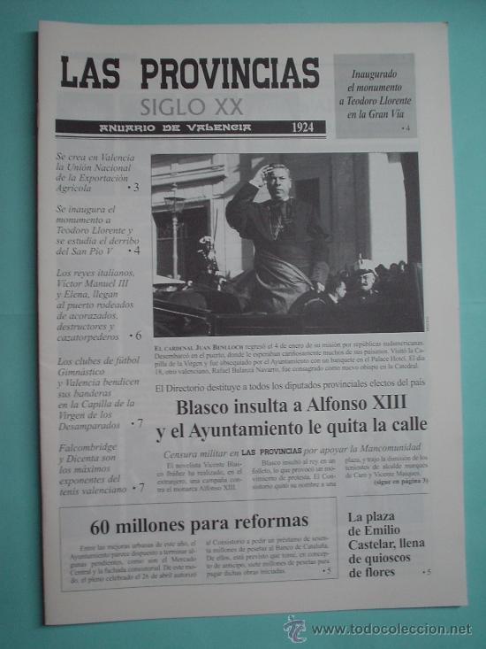 DIARIO. LAS PROVINCIAS SIGLO XX. ANUARIO DE VALENCIA. 1924-1925. PERIÓDICO RESUMEN (Coleccionismo - Revistas y Periódicos Modernos (a partir de 1.940) - Otros)