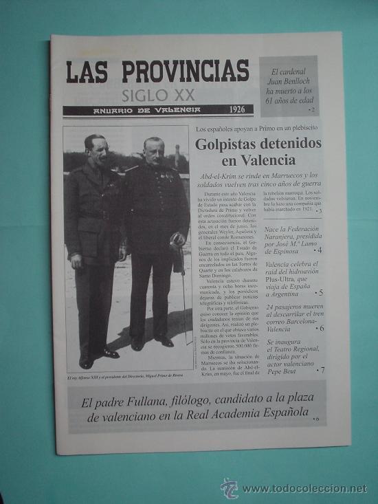 DIARIO. PERIÓDICO. LAS PROVINCIAS SIGLO XX. ANUARIO DE VALENCIA. 1926-1927 (Coleccionismo - Revistas y Periódicos Modernos (a partir de 1.940) - Otros)