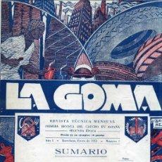 Coleccionismo de Revistas y Periódicos: REVISTA TÉCNICA LA GOMA 16 NÚMEROS DESDE EL Nº1 (1953). Lote 30423579