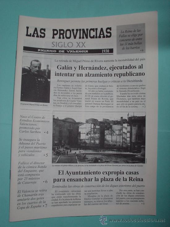 LAS PROVINCIAS SIGLO XX. ANUARIO DE VALENCIA. 1930 - 1931. PERIÓDICO. DIARIO VALENCIANO (Coleccionismo - Revistas y Periódicos Modernos (a partir de 1.940) - Otros)