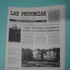 Coleccionismo de Revistas y Periódicos: LAS PROVINCIAS SIGLO XX. ANUARIO DE VALENCIA. 1930 - 1931. PERIÓDICO. DIARIO VALENCIANO. Lote 30439481