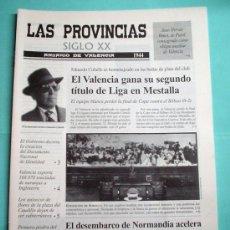 Coleccionismo de Revistas y Periódicos: LAS PROVINCIAS SIGLO XX. ANUARIO DE VALENCIA. 1944 -1945. DIARIO. PERIÓDICO. Lote 30439608
