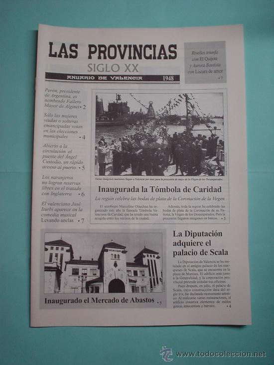 LAS PROVINCIAS SIGLO XX. ANUARIO DE VALENCIA. 1948 - 1949. DIARIO. PERIÓDICO (Coleccionismo - Revistas y Periódicos Modernos (a partir de 1.940) - Otros)