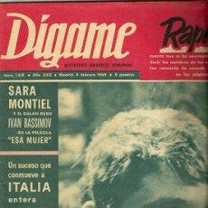Coleccionismo de Revistas y Periódicos: REVISTA DIGAME Nº 1.518 DEL 4 DE FEBRERO DE 1969 PORTADA RAPHAEL. Lote 30555371