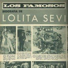 Coleccionismo de Revistas y Periódicos: LOLITA SEVILLA REVISTA DIGAME Nº 1.392 DEL 6 DE SEPTIEMBRE DE 1966 PORTADA DOLORES VARGAS. Lote 30574178