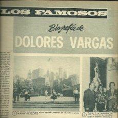 Coleccionismo de Revistas y Periódicos: DOLORES VARGAS REVISTA DIGAME Nº 1.430 DEL 30 DE MAYO DE 1967. Lote 30575068