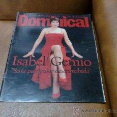 Coleccionismo de Revistas y Periódicos: REV.DOMICICAL 4 /1997 ISABEL GEMIO AMPLIO RPTJE.,JOHAN CRUYFFH, ARRISON FORD POSTER-IÑAKI URDANGARIN. Lote 30638249