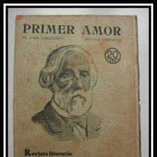 Coleccionismo de Revistas y Periódicos: 1929 PRIMER AMOR DE IVAN TURGUENEV REVISTA LITERARIA NOVELAS Y CUENTOS COMPLETA 28CM X21CM. Lote 30736690