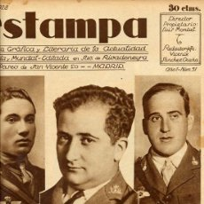 Coleccionismo de Revistas y Periódicos: AVIACION 1928 NUMANCIA FRANCO HOJA PORTADA REVISTA. Lote 219858553