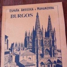 Coleccionismo de Revistas y Periódicos: ANTIGUA REVISTA. BURGOS. ESPAÑA ARTÍSTICA Y MONUMENTAL. Nº 20. SEGÚI. CA. 1910/20. (FG00017). Lote 30770605