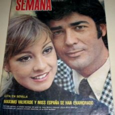 Coleccionismo de Revistas y Periódicos: SEMANA Nº1722 - 1973 - CECILIA - MAXIMO VALVERDE - CARMINA ORDOÑEZ - EL CORDOBES. POSTER PAUL NEWMAN. Lote 30820908
