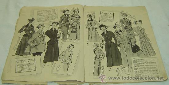 Coleccionismo de Revistas y Periódicos: FIGURIN DE MODA MILADY-HIVERN 1950-nro.69 - Publicaciones Mundial Barcelona medidas 38*27 cms. - Foto 6 - 30922635