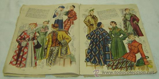 Coleccionismo de Revistas y Periódicos: FIGURIN DE MODA MILADY-HIVERN 1950-nro.69 - Publicaciones Mundial Barcelona medidas 38*27 cms. - Foto 5 - 30922635