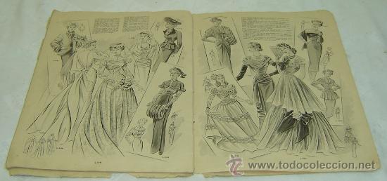Coleccionismo de Revistas y Periódicos: FIGURIN DE MODA MILADY-HIVERN 1950-nro.69 - Publicaciones Mundial Barcelona medidas 38*27 cms. - Foto 4 - 30922635