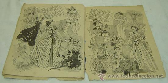 Coleccionismo de Revistas y Periódicos: FIGURIN DE MODA MILADY-HIVERN 1950-nro.69 - Publicaciones Mundial Barcelona medidas 38*27 cms. - Foto 3 - 30922635