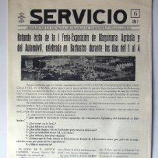 Coleccionismo de Revistas y Periódicos: SERVICIO / ORGANO DE LA GUARDIA DE FRANCO DE BARBASTRO / AÑO 1962 / FERIA MAQUINARIA / HUESCA. Lote 218712935