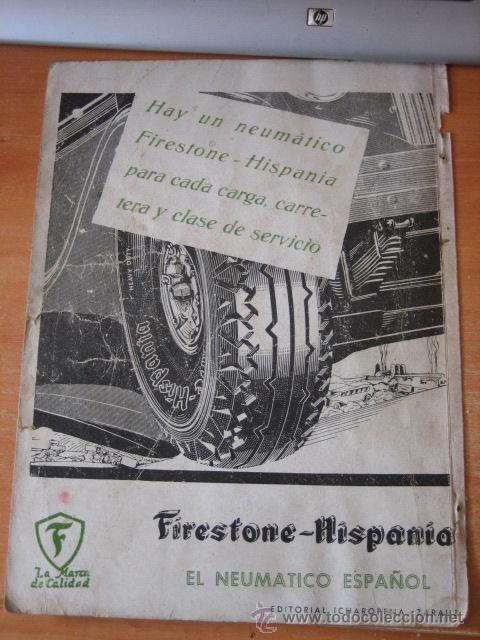 PUBLICIDAD FIRESTONE.ACEROS BELLOTA LEGAZPIA.OLAMA ANDOAIN HOJA REVISTA GEOGRAFIA ESPAÑOLA (Coleccionismo - Revistas y Periódicos Modernos (a partir de 1.940) - Otros)