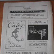 Coleccionismo de Revistas y Periódicos: PUBLICIDAD N.ASTABURUAGA EIBAR.ROJO,ZALDUA Y CIA ZUMARRAGA,CRELIOS HOJA REVISTA GEOGRAFIA ESPAÑOLA. Lote 30983421