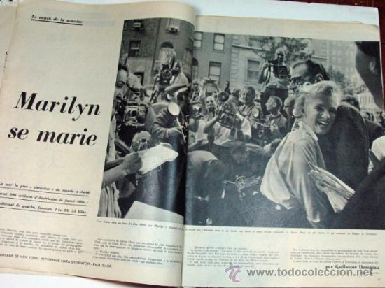 Coleccionismo de Revistas y Periódicos: PARIS MATCH. 1956 MARILYN MONROE MATRIMONIO. FRED ASTAIRE Y AUDREY HEPBURN. ORIGINAL DE EPOCA - Foto 3 - 30984795
