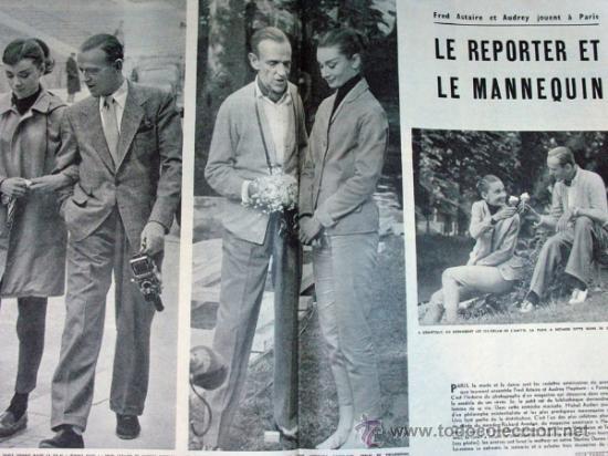 Coleccionismo de Revistas y Periódicos: PARIS MATCH. 1956 MARILYN MONROE MATRIMONIO. FRED ASTAIRE Y AUDREY HEPBURN. ORIGINAL DE EPOCA - Foto 2 - 30984795