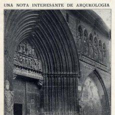 Coleccionismo de Revistas y Periódicos: ESTELLA 1916 NAVARRA SANTO SEPULCRO IGLESIA HOJA REVISTA. Lote 31082430