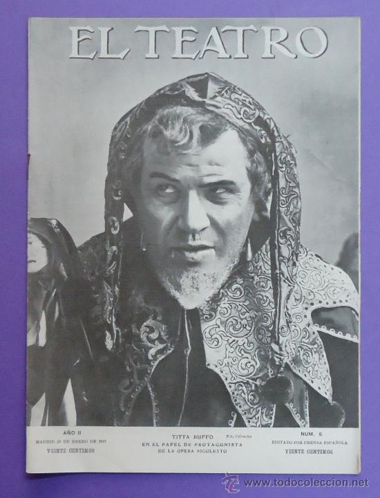 El teatro revista de espect culos 1910 porta comprar for Revistas de espectaculos