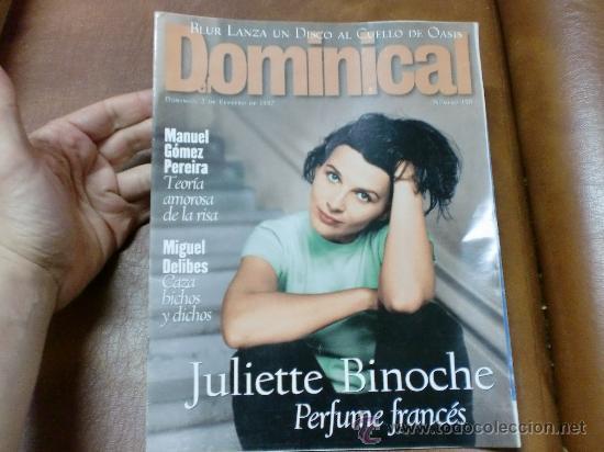 REV DOMINICAL 2/97JULIETTE BINOCHE / AMPLIO RPTJE MIGUEL DELIBES, ATHINA ROUSELL.BRUR, (Coleccionismo - Revistas y Periódicos Modernos (a partir de 1.940) - Otros)