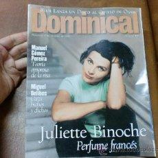 Coleccionismo de Revistas y Periódicos: REV DOMINICAL 2/97JULIETTE BINOCHE / AMPLIO RPTJE MIGUEL DELIBES, ATHINA ROUSELL.BRUR,. Lote 31125428