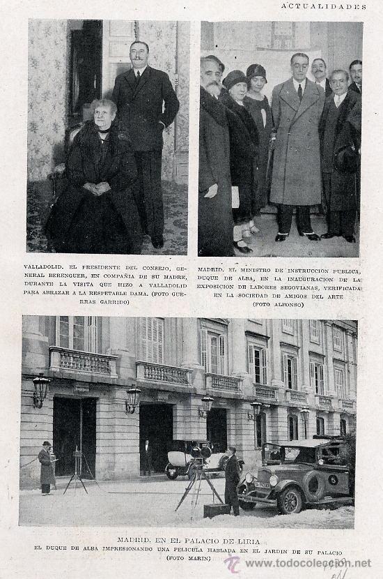 DUQUE DE ALBA 1930 HOJA REVISTA (Coleccionismo - Revistas y Periódicos Modernos (a partir de 1.940) - Otros)