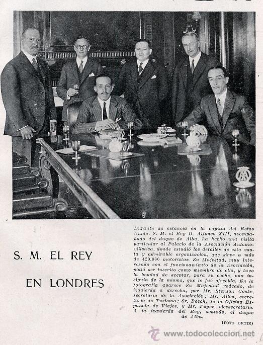 DUQUE DE ALBA Y REY 1930 LONDRES HOJA REVISTA (Coleccionismo - Revistas y Periódicos Modernos (a partir de 1.940) - Otros)