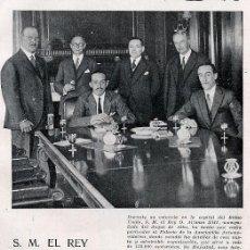 Coleccionismo de Revistas y Periódicos: DUQUE DE ALBA Y REY 1930 LONDRES HOJA REVISTA. Lote 31191192