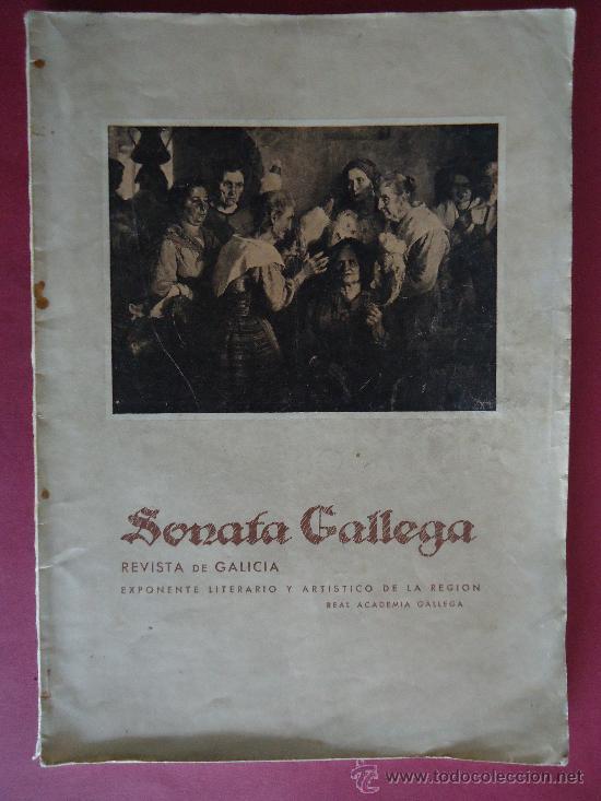 PONTEVEDRA. 'SONATA GALLEGA. REVISTA DE GALICIA' EXPONENTE LITERARIO Y ARTISTICO DE LA REGION.1949 (Coleccionismo - Revistas y Periódicos Modernos (a partir de 1.940))