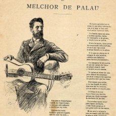 Coleccionismo de Revistas y Periódicos: MELCHOR DE PALAU 1894 POETAS HOJA REVISTA. Lote 31231343