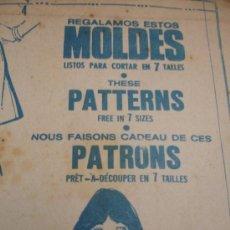 Coleccionismo de Revistas y Periódicos: PATRONES DE COSTURA . Lote 31285464