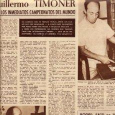 Coleccionismo de Revistas y Periódicos: FUTBOL 1960 ZARAGOZA CESAR EN ZARAGOZA HOJA REVISTA. Lote 31286179