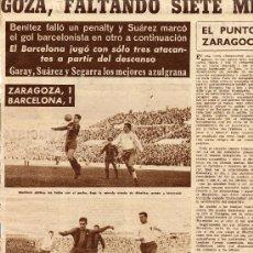 Coleccionismo de Revistas y Periódicos: FUTBOL 1960 ZARAGOZA-BARCELONA HOJA REVISTA. Lote 31288890