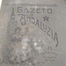 Coleccionismo de Revistas y Periódicos: GAZETO DE ANDALUCIA 1910. Lote 31300086